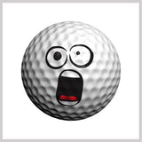 Golfmoji Golfdotz Design on Golf Ball