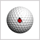 Ladybug Golfdotz Design on Golf Ball