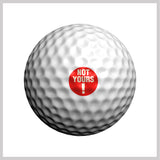 Not Yours Golfdotz Design on Golf Ball