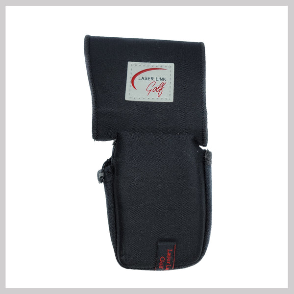 Side View of Black Laser Link Zippered Soft Sleeve