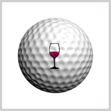 Viva Vino Golfdotz Design on Golf Ball