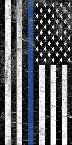 Thin Blue Line Flag Corn Hole Skins