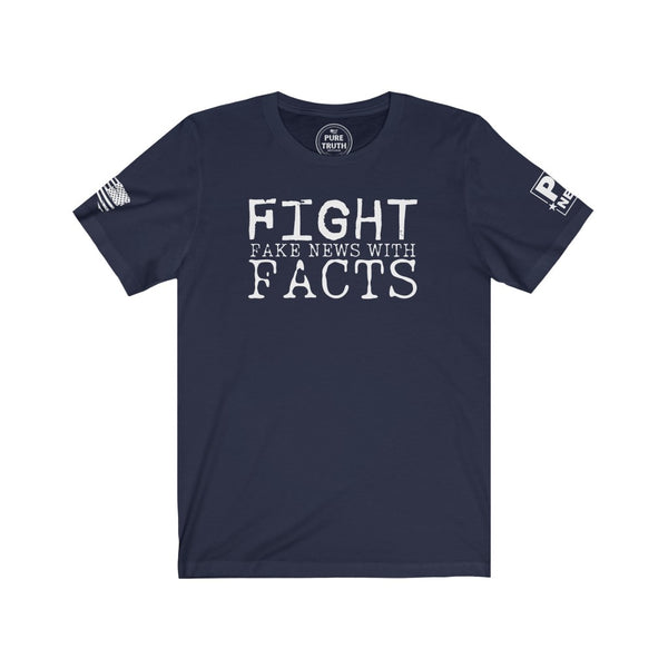 Fight Fake News With Facts Unisex Short Sleeve Tee