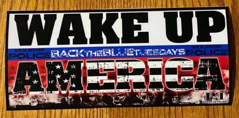 Wake Up America! Bumper Sticker
