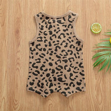 Load image into Gallery viewer, Sleeveless Leopard Romper