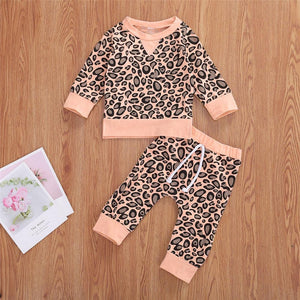Pink Leopard Lounge Set