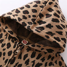 Load image into Gallery viewer, Leopard Zip Hoodie