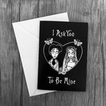 I Ask You To Be Mine Greetings Card