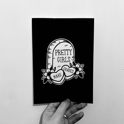Pretty Girls Make Graves A5 Print