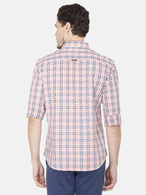Load image into Gallery viewer, Men's Slim-fit Checked Casual Shirt-BP23315FPeach
