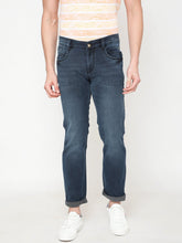 Load image into Gallery viewer, Men's Cotton Stretchable Slim-fit Jeans-D9115Denim blue