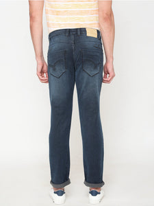 Men's Cotton Stretchable Slim-fit Jeans-D9115Denim blue