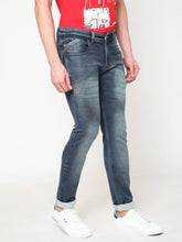 Load image into Gallery viewer, Men's Denim Blue Cotton Stretchable Slim-fit Jeans-DH9216Denim_blue