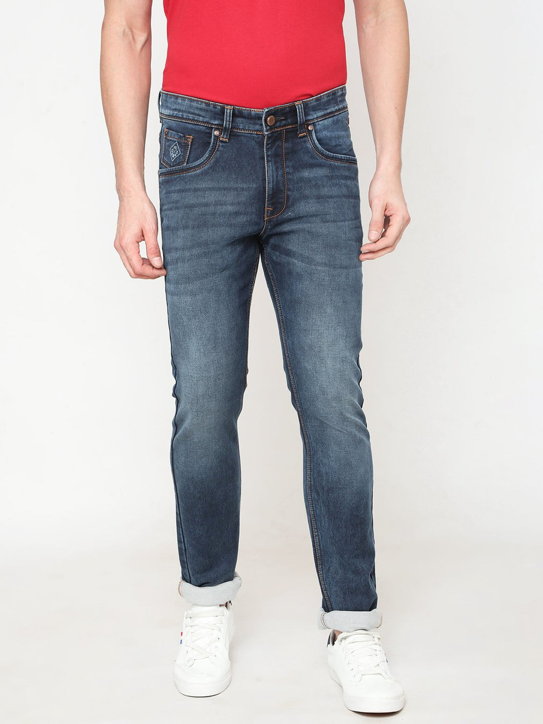 Men's Cotton Stretchable Slim-fit Jeans-DH9225Horizon blue