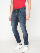 Load image into Gallery viewer, Men's Cotton Stretchable Slim-fit Jeans-DH9225Horizon blue
