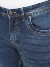 Load image into Gallery viewer, Men's Blue Cotton Stretchable Slim-fit Jeans-DH9275Blue