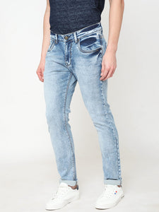 Men's Ice Cotton Stretchable Slim-fit Jeans-DH9278Ice