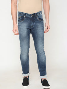 Men's Cotton Stretchable Slim-fit Jeans-DH9289Dark blue