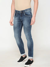 Load image into Gallery viewer, Men's Cotton Stretchable Slim-fit Jeans-DH9289Dark blue