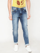 Load image into Gallery viewer, Men's Cotton Stretchable Slim-fit Jeans-DH9291Blue