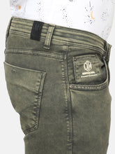 Load image into Gallery viewer, Men's Cotton Stretchable Slim-fit Jeans-DH9301Olive