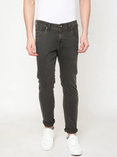 Load image into Gallery viewer, Men's Khakhi Cotton Stretchable Slim-fit Jeans-DH9321Khaki