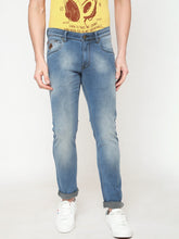 Load image into Gallery viewer, Men's Cotton Stretchable Slim-fit Jeans-DH9328Light blue