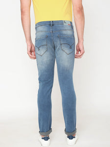 Men's Cotton Stretchable Slim-fit Jeans-DH9328Light blue