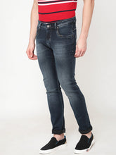 Load image into Gallery viewer, Men's Dark Blue Cotton Stretchable Slim-fit Jeans-DH9329Dark_blue