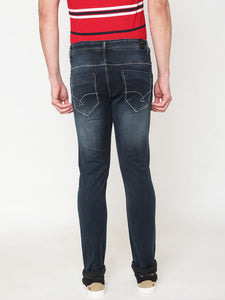 Men's Dark Blue Cotton Stretchable Slim-fit Jeans-DH9329Dark_blue