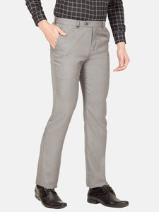 Men's Poly-viscose Super Slim-fit Formal Trousers-F6139BGrey