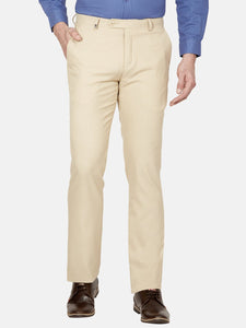 Men's Poly-viscose Super Slim-fit Formal Trousers-F6150BBeige