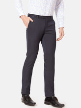 Load image into Gallery viewer, Men's Poly-viscose Slim-fit Formal Trousers-F7145BNavy Blue