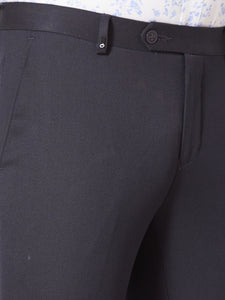 Men's Poly-viscose Slim-fit Formal Trousers-F7145BNavy Blue