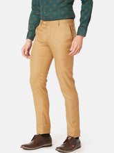 Load image into Gallery viewer, Men's Poly-viscose Slim-fit Formal Trousers-F7159BKhaki
