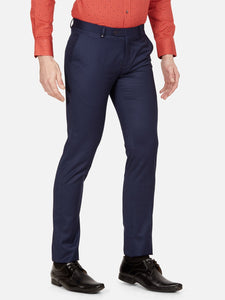 Men's Poly-viscose Super Slim-fit Formal Trousers-FPL7033BNavy Blue
