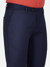 Load image into Gallery viewer, Men's Poly-viscose Super Slim-fit Formal Trousers-FPL7033BNavy Blue