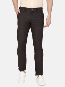 Men's Stretchable Slim-fit Casual Trousers-H4639BBlack