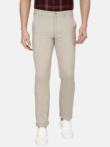Men's Cotton Slim-fit Casual Trousers-H4648BBeige