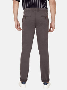 Men's Stretchable Slim-fit Casual Trousers-H4649BGrey