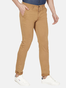 Men's Stretchable Slim-fit Casual Trousers-H4649BMustard yellow