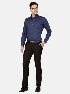 Men's Poly-viscose Anti Viral Slim-fit Formal Trousers-LF7225BBlack