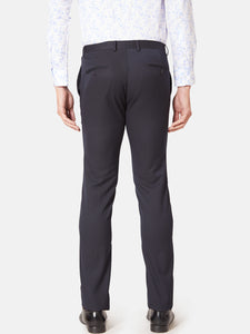 Men's Poly-viscose Anti Viral Slim-fit Formal Trousers-LF7225BNavy