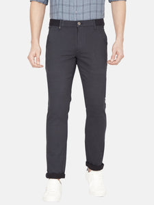 Men's Stretchable Slim-fit Casual Trousers-MJ811Navy Blue