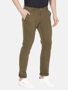 Men's Stretchable Cotton Slim-fit Trousers-MJ811Olive