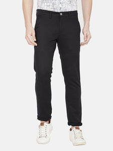 Men's Slim-fit Stretchable Casual Trousers-MJ850Black