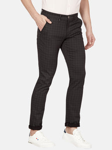 Men's Stretchable Slim-fit Casual Trousers-MJ851Black