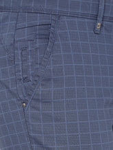 Load image into Gallery viewer, Men's Stretchable Slim-fit Printed Casual Trousers-MJ851Dark_Blue