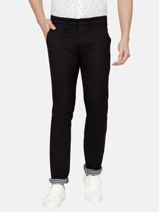 Men's Stretchable Slim-fit Casual Trousers-MJ852Navy