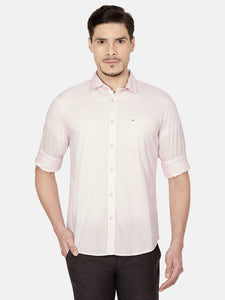 Men's Cotton Dobby Slim-fit Casual Shirt-MS4632FBeige